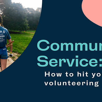 Blog title card: community service - how to hit your 2021 volunteering goal